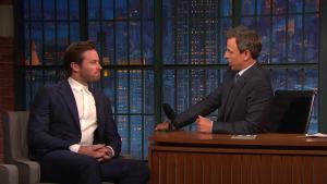'Late Night': Armie Hammer Reveals How He Learns His Lines