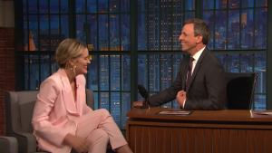 'Late Night': Taylor Schilling's French Bulldog Can Talk