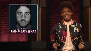 'Late Night': Amber Says 'What' to Kaepernick Ad, Franklin Funeral