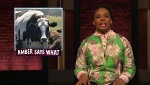 'Late Night': Amber Says 'What?' to President, National Dog Show
