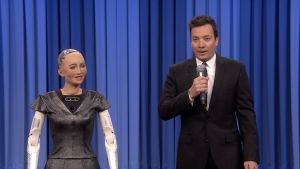 'Tonight': Sophia the Robot, Fallon Sing Duet of 'Say Something'