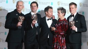 'Three Billboards' Wins, Women Make Waves at UK film Awards<br />