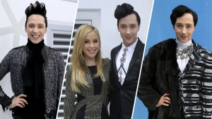 In Photos: Johnny Weir, Tara Lipinski's Pyeongchang Style