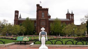 Robots at Smithsonian Museums Answer Questions, Take Selfies