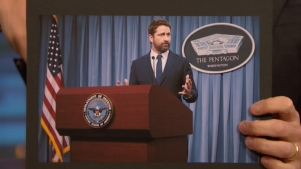 'Late Night': Gerard Butler Gave a Press Conference at the Pentagon