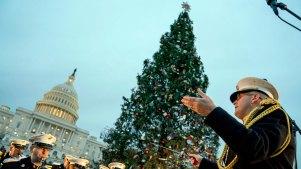 79-Foot Montana Christmas Tree Lit Outside US Capitol