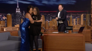 'Tonight': Fan Tiffany Haddish Crashes Whoopi's Interview