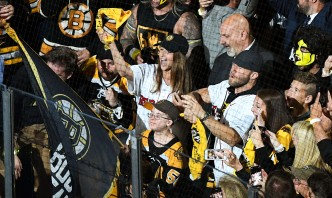 'Fist Bump Kid' Serves as Bruins Banner Captain for Game 7 Alongside Edelman, Raisman