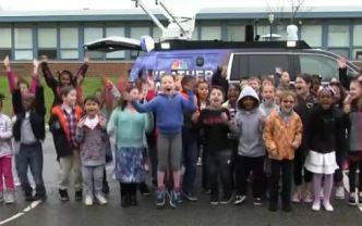 Weather Warrior Visits Hancock Elementary