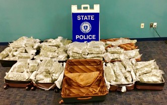 PD: Trio Tried to Smuggle 150 Pounds of Pot Through Logan