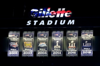 Watch Patriots Unveil New Super Bowl LIII Banner