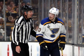 Blues' Sundqvist Faces NHL Hearing for Grzelcyk Hit