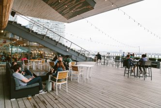 SunBar Opens for the Summer at the ICA in Boston's Seaport District
