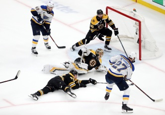 Blues Edge Bruins, Move to Within One Win of Cup Victory