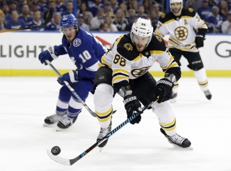 Bruins Beat Lightning 6-2 in Game 1 of Second Round