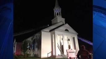 Wareham Firefighters Battle 3-Alarm Church Fire