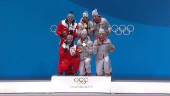 Medal Ceremony: Germany Slides Into Luge Doubles Gold