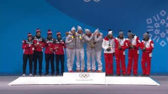 Medal Ceremony: Germany Defends Luge Team Relay Title