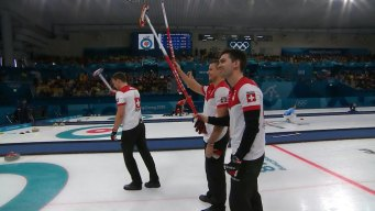Switzerland Hands Sweden First Men's Curling Loss