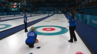 Team USA Defeats Denmark in Final End
