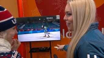 Lindsey Vonn Watches Cross-Country History