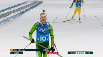Belarus' Domracheva Makes Olympic History With Relay Gold