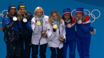 Medal Ceremony: Team USA Receives First Cross-Country Gold