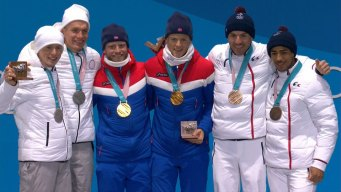 Medal Ceremony: Norway Gets 13th Cross-Country Medal