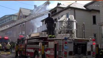 4 Rescued After Malden House Catches Fire