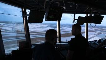Air Traffic Controllers Leafleting Amid Shutdown At Logan