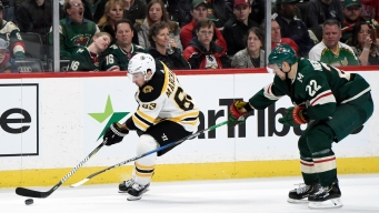 Marchand Scores in OT to Lift Bruins Over Wild 2-1