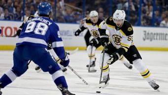 Bruins Lose 4-2 to Lightning in Game 2