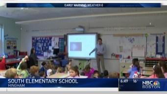 Meteorologist Michael Page Visits South School in Hingham