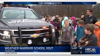 Weather Warrior Visits Hingham School Children