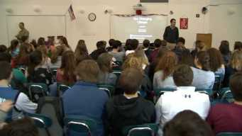 Michael Page Visits Hingham High School