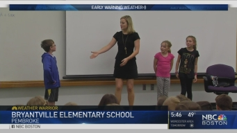 Weather Warrior Visits Bryantville Elementary School