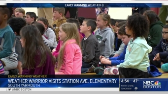 Weather Warrior Visits Station Ave. Elementary