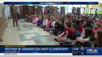 Weather Warrior Visits W. Edward Balmer Elementary