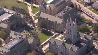 Racist Signs Appear at Boston College Ahead of Protest