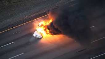 WATCH: Explosion During Car Fire on I-93