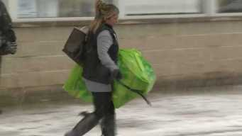 Snow Doesn't Stop Holiday Shoppers