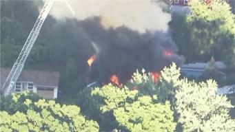 NBC10 Boston Sky Ranger Over Merrimack Valley Disaster