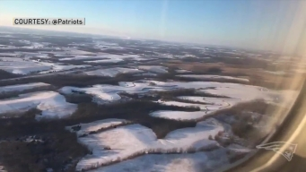 Patriots Plane Lands in Kansas City
