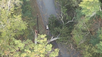 Aerial Footage Shows Damage From New England Storm