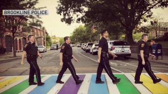 Brookline Police Celebrate Pride With Crosswalk