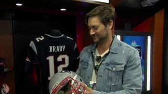 Catching Up With Ryan Eggold at Patriots' Opener