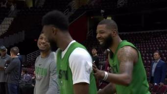 Celtics Loose at Practice Following 30-Point Bludgeoning