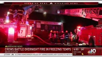 Crews Battle Overnight Fire in Freezing Temps