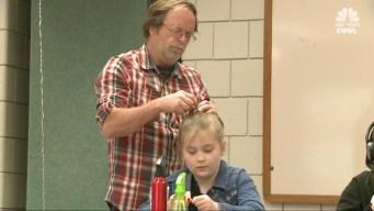 Man Starts Daddy-Daughter Hair Factory