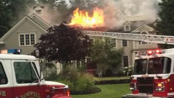Lightning Sparks House Fires in Several Massachusetts Towns